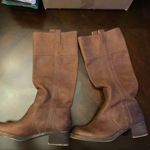 Lucky brown knee high leather boots